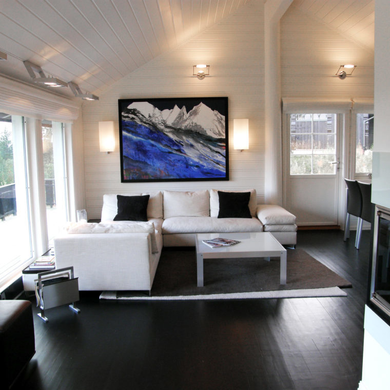 Stue i hytte
